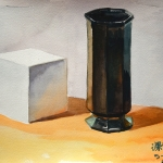 Still Life with Cube and Vase