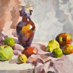 Study of Vase with Fruits