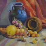 Still Life with Vase and Fruits 2