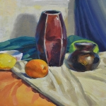 Still Life with Vase and Citrus