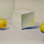 Still Life with Cube and Citrus